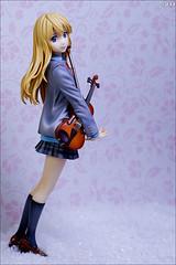 Ready to disappear (gwennan) Tags: anime color macro cute colors japan closeup toy figure kaori figures pvc jfigure goodsmilecompany miyazono shigatsuwakiminouso miyazonokaori