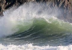 Kynance Wave (Raphooey) Tags: uk sea england cliff southwest west rock canon eos seaside rocks cornwall surf waves cove south shoreline wave cliffs spray lizard shore foam gb roller spindrift breakers rollers peninsula seashore serpentine breaker seawater kynance 70d meneage