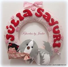 Guirlanda maternidade Kokeshi (Fofurebas - By Jackie) Tags: kokeshi recmnascido enfeitedematernidade guirlandadenascimento