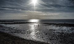 Hunstanton Easter 2016 (GOR44Photographic@Gmail.com) Tags: blue sea people cloud sun reflection beach water coast sand norfolk fujifilm hunstanton xf1 gor44