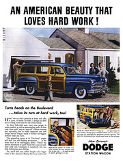1950 Dodge Coronet Station Wagon (Tom Simpson) Tags: cars car vintage advertising automobile ad woody advertisement 1950s dodge 1950 stationwagon vintagead 1950dodgestationwagon