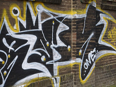 2016.04 - Amsterdam photo of a large graffiti tag on an old brick wall of the Jan van Gendt hallen, location Oostenburgereiland - geotagged free urban picture, in public domain / Commons; Dutch photography, Fons Heijnsbroek, The Netherlands (Amsterdam photos, pictures, foto's - Netherlands) Tags: graffiti tag street art brick wall factory old oostenburg amsterdam light sun texture structure outdoor city industrial free photo public domain print picture image geotagged dutch photography contrast black yellow brickwall 19th century urban publicdomain publiekdomein nocopywright freedownload freeprint printforfree fonsheijnsbroek ccophotography freephotos photofree opensourcephotos thenetherlands photographer dutchphotographer urbanphotographer urbanphotoart urbanphoto dutchphoto dutchphotography urbanphotography commons amsterdamcity highresolution goodquality printfree throwup wallwriting urbanart wallpainting piece impression pic