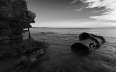 Pipe dreams (Trace Connolly) Tags: longexposure blackandwhite seascape monochrome landscape sigma australia southaustralia blackandwhitephotography sigma1020mm rockyshore monochromephotography seascene innesnationalpark canon40d