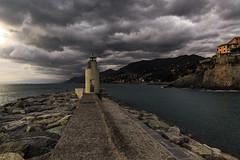 Il faro II (Enrico Cusinatti) Tags: sea italy cloud lighthouse clouds faro italia nuvole mare liguria camogli nubi thelighthouse enricocusinatti