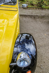 2CV Charleston (dtail) (xwattez) Tags: auto park old france car square french automobile citroen jardin grand citron voiture charleston 2cv transports toulouse ancienne dtail rond 2016 franaise vhicule rassemblement boulingrin