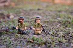 GIs (~J2J~) Tags: soldier outdoors lego military olive american ww2 gi minifigure mru brickarms citizenbrick minifigsrus
