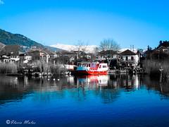 The boat (89lilly) Tags: travel lake beautiful reflections reflex greece viaggio ioannina giannina limni lovephotography pamvotida epiro    ioanninaisland epirum