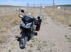 No Nukes.   Montana (montanatom1950) Tags: montana vstrom motorcycletouring missilesilo missi nuclearmissile minutemanmissile