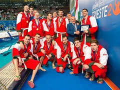 FINA Men's Water polo Olympic Games Qualifications Tournament 2016 - Trieste (ITA) (fina1908) Tags: blue italy white fina ita trieste waterpolo olympicgames qualification settebello 2016 pallanuoto 7bello tournament2016 teamhun