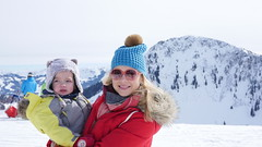 Mami & Amelie (Madleeeen) Tags: family winter snow ski cold austria skiing hats sunny amelie grandparents kaiser wilder sledge sledging