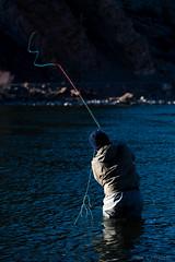 Casting Into Shadows (john.c.arnold) Tags: winter fishing montana casting braden missouririver spey troutspey