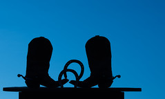 """Shoes"" (the_sandman_454) Tags: silhouette spurs boots western horseshoes nikond810 tamron70200mmf28divcusd"