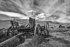 Derelict Wagon at Ghost Town - Bodie, California (9/13/2009) (rbb32) Tags: blackwhite bodie