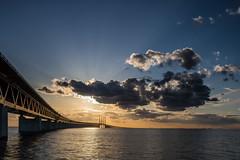 Over the Bridge (Infomastern) Tags: bridge sunset sea sky cloud water bro vatten hav solnedgng resundsbron geolocation geocity camera:make=canon exif:make=canon brofstet geocountry geostate exif:lens=efs18200mmf3556is exif:focallength=20mm exif:aperture=14 exif:isospeed=100 camera:model=canoneos760d exif:model=canoneos760d