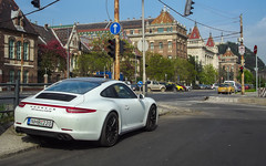 Would go to university with this (Adam Berndt) Tags: white university hungary 4 rear budapest 911 porsche carrera gts 991 bme magyarorszg fehr sportaut
