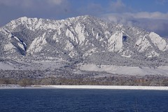 Sun & Snow (Let Ideas Compete) Tags: lake snow march colorado sunny boulder flatirons snowcovered boulderco bouldercolorado baseline baselinereservoir boundercounty