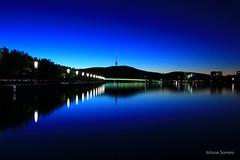 Canberra by Night (juliane.samara) Tags: black mountainlake burlley griffintwilight