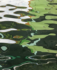 Gloopy Green Water (Carolbreeze99) Tags: abstract colour reflection green water lines loop guatemala oily liquid gloop