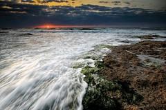 Sunset over the sea of Gaza city,, ! (TeamPalestina) Tags: sunset sky sun sunrise photo amazing photographer natural sweet live comfort sunrays gaza beautifull palestinian  landscapecaptures instagram instagood light mohamedzarandah palestineblackandwhite