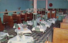 Carter's Restaurant, Orillia, Ontario (SwellMap) Tags: architecture vintage advertising restaurant design pc cafe 60s fifties postcard suburbia style diner kitsch retro truckstop nostalgia chrome americana 50s roadside cafeteria googie populuxe sixties babyboomer consumer coldwar snackbar eatery midcentury spaceage driveinrestaurant atomicage