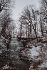 Clarendon Falls (awaketoadream) Tags: new york winter vertical waterfall long exposure gloomy state cloudy niagara falls western clarendon escarpment