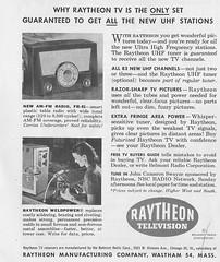 Ratheon Television Ad-1952 (Howard258) Tags: nostalgia 1950s nostalgic vintageads