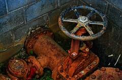 Water Valve (BDM17) Tags: water wheel ga georgia fire stem rust gate iron pipe cast valve corrosion irrigation shaft trenton