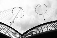 DSC_0724_0827 (Hatleskog photography) Tags: bridge blackandwhite geometric lines architecture triangles copenhagen circle denmark