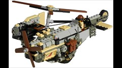 Towhee Light Diesel Gyrocopter Mk. XXVI (video) (aillery) Tags: camera light pull design back desert lego diesel aircraft military engine scout helicopter motor concept effect torque copter motorized rotor towhee asymmetric adventurers recon reconnaissance nonelectric dieselpunk gryocopter