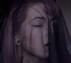 """J117/365  """"Voile noire"""" (manon.ternes) Tags: pink portrait paris art girl project photography student photographie emotion photos 365 fille voile pinup personnes challenge personne plugs purplehair projet artistique parisienne pinupgirl tudiante potique 365days 365project projet365"""