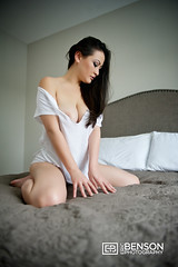 160202-0618B-029BE (bennymofo) Tags: white sexy asian bedroom erotic breast tits tshirt busty braless