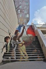 Zag + Sia_6021 rue du Chevaleret Paris 13 (meuh1246) Tags: streetart paris enfant sia zag paris13 eugnedelacroix arme rueduchevaleret lalibertguidantlepeuple