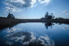 Chapelle Sainte-Anne (http://www.jeromlphotos.fr) Tags: blue sky cloud lake canon eos mirror eau bretagne bluesky breizh reflet miroir nuage 35 britany 1740f4 illeetvilaine chapellesainteanne baiedumontstmichel 5dmarkii