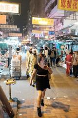 Cellphone girl (oyvind-nilsen) Tags: china city travel girl hongkong asia cellphone april fujifilm kowloon reise shamshuipo 2016 x100 apliustreet xtrans x100t