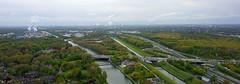 Oberhausen (AstridSusann) Tags: panorama wasser outdoor nrw kanal brcke landschaft bume oberhausen