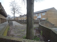 The Orchard Estate,2 (doojohn701) Tags: uk trees houses homes london weeds post decay greenwich social bland vegetation council housing 1970s modernist depressing