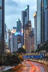 Hong Kong (david.bank (www.david-bank.com)) Tags: china hongkong twilight skyscrapers dusk bluehour