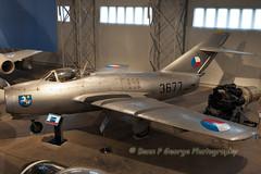MIG-15BISSB-3677-10-4-16-EAST-FORTUNE-MUSEUM-OF-FLIGHT (Benn P George Photography) Tags: museumofflight gr1 harrier 10416 seahawk eastfortune 3677 seavenom xv277 wf259 ww145 mig15bissb bennpgeorgephotography