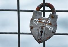 Riverbank Keepsake Locks 2 of 5 (Orbmiser) Tags: oregon fence portland spring nikon lock riverbank willametteriver keepsakes padlocks d90 eastsideesplanade 55200vr