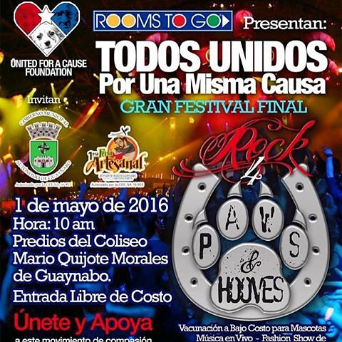 HOY domingo estaré en tarima a las 3:00pm!! Apoyemos a los rescatistas!! #rockforpaws2016 #fratiweb #guisandoporlaislatour2016