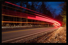 Rte. 127, southbound... (DjD-567) Tags: 127 carlights stateroute light trails streaks night motion nh salisbury