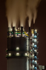 Heavy Smoker (Robert Bauernhansl) Tags: chimney industry lights smoke smoking industrie rauch fumes