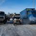 Caminhões na Estrada dos Ossos