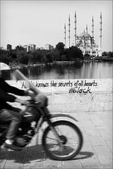 secrets of all hearts (bostankorkulugu) Tags: bridge water turkey river roman islam scooter mosque motorbike motorcycle adana allah quran verse stonebridge romanbridge kuran takpr seyhan sabancimerkezcamii sabancicentralmosque