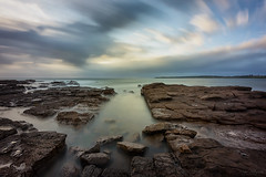 Cutty (Crouchy69) Tags: ocean sea sky seascape motion water clouds sunrise landscape dawn coast rocks long exposure waves reserve australia nsw shellharbour