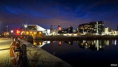 Mann Island (Mark Holt Photography - 4 Million Views (Thanks)) Tags: city reflection water liverpool docks reflections cityscapes thebluehour mannisland the3graces themuseumofliverpool