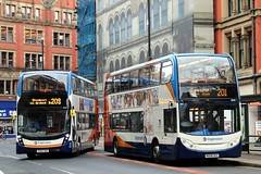 Father and Son! (busmanscotland) Tags: buses manchester south ad greater alexander dennis mmc stagecoach obo adl ucu 10479 19348 e400 mx08 mx08ucu sn65 e400mmc sn65obo