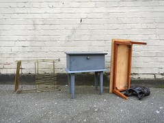 Tables (peterphotographic) Tags: uk england london abandoned apple table found lost europe britain e17 walthamstow eastlondon iphone enlight threes3