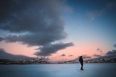 Earth (Miguel Santaolalla) Tags: moon man ice miguel clouds iceland alone earth lagoon santaolalla