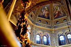Tempio dell' Incoronata ( Ivan) Tags: blue windows light italy church temple gold catholic interior dome richness lodi lombardy reinassance